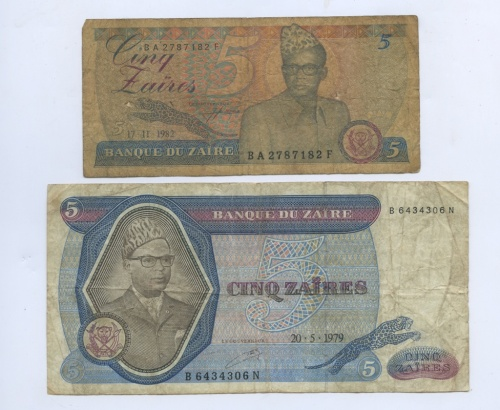 Набор банкнот (Заир) 1979, 1982