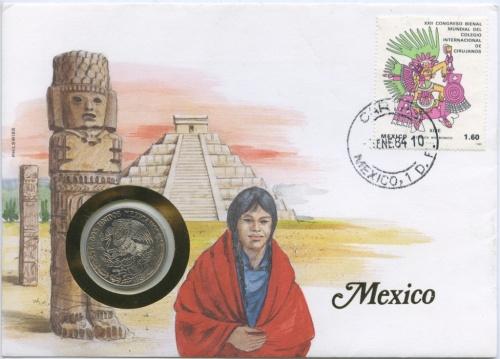 1 песо (вконверте смаркой, соткрыткой) 1981 года (Мексика)