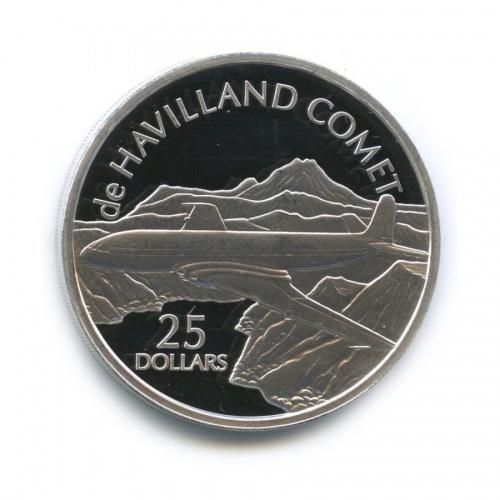 25 долларов - Первый вмире коммерческий реактивный авиалайнер «deHavilland Comet», Соломоновы острова 2003 года