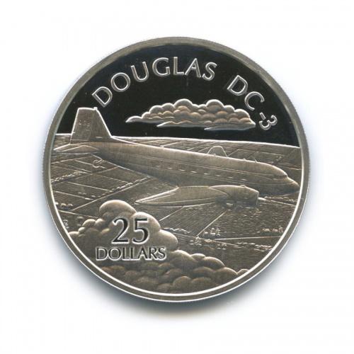 25 долларов - Американский ближнемагистральный транспортный самолёт сдвумя поршневыми двигателями «Douglas DC-3», Соломоновы острова 2003 года