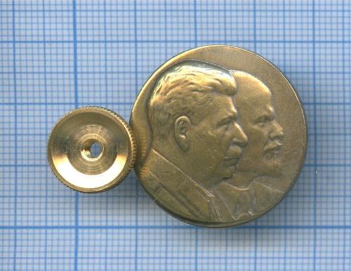 Значок «В. И. Ленин и И. В. Сталин» (Россия)