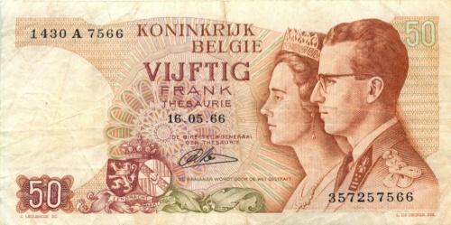 50 франков 1966 года (Бельгия)
