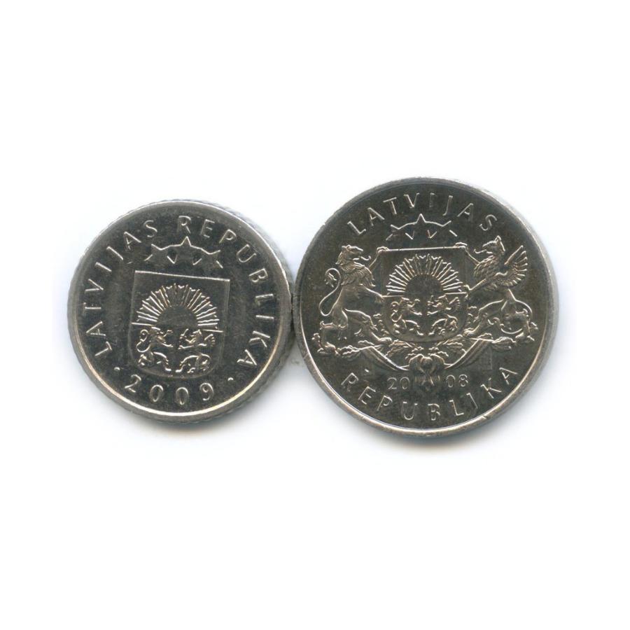 Набор монет 2008, 2009 (Латвия)