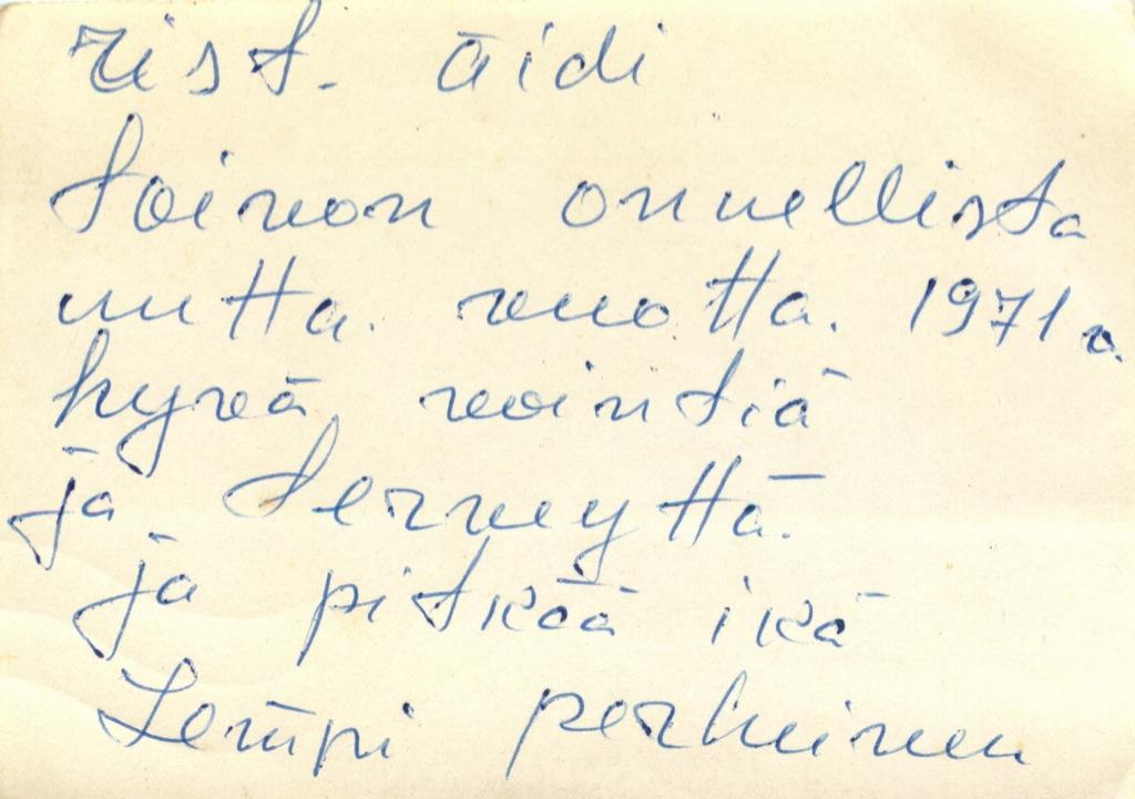 Открытое письмо «Õnnelikku» 1971 года (Эстония)