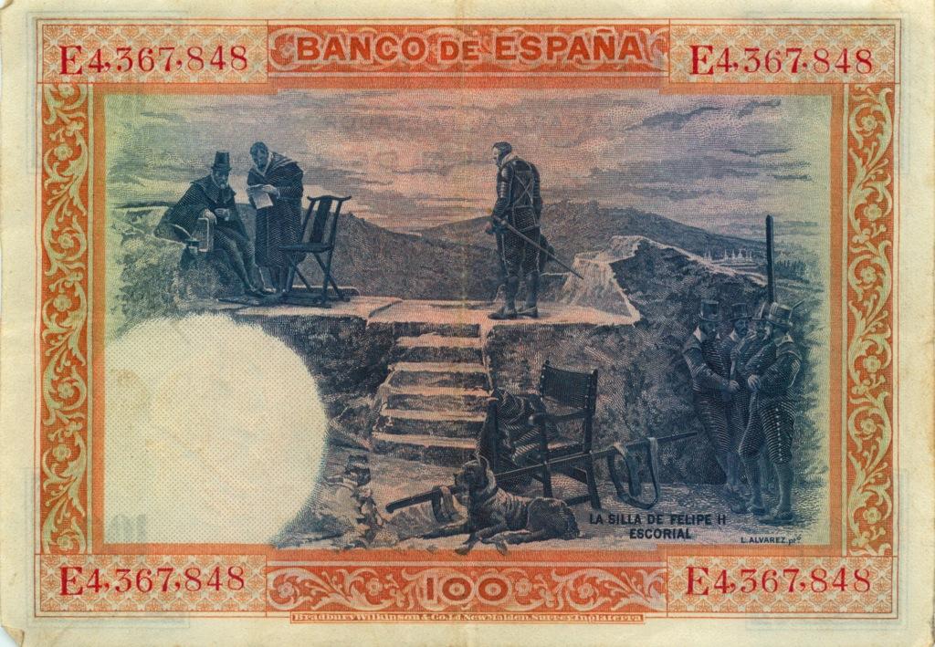 100 песет 1925 года (Испания)