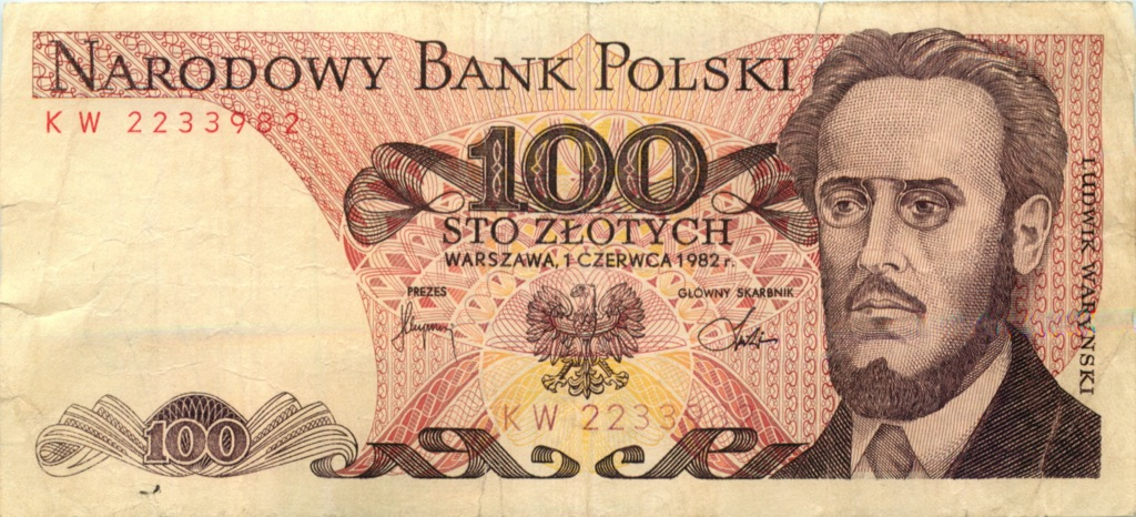 100 злотых 1982 года (Польша)