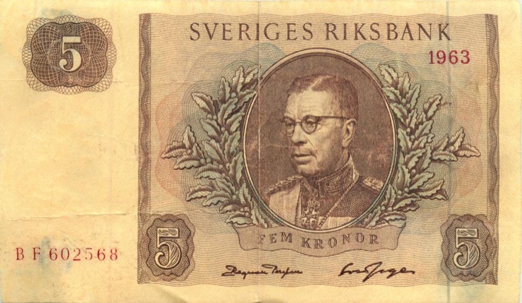 5 крон 1963 года (Швеция)