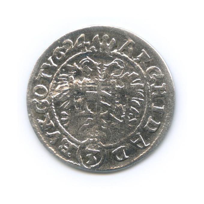 3 крейцера - Фердинанд II, Священная Римская империя 1624 года (Австрия)