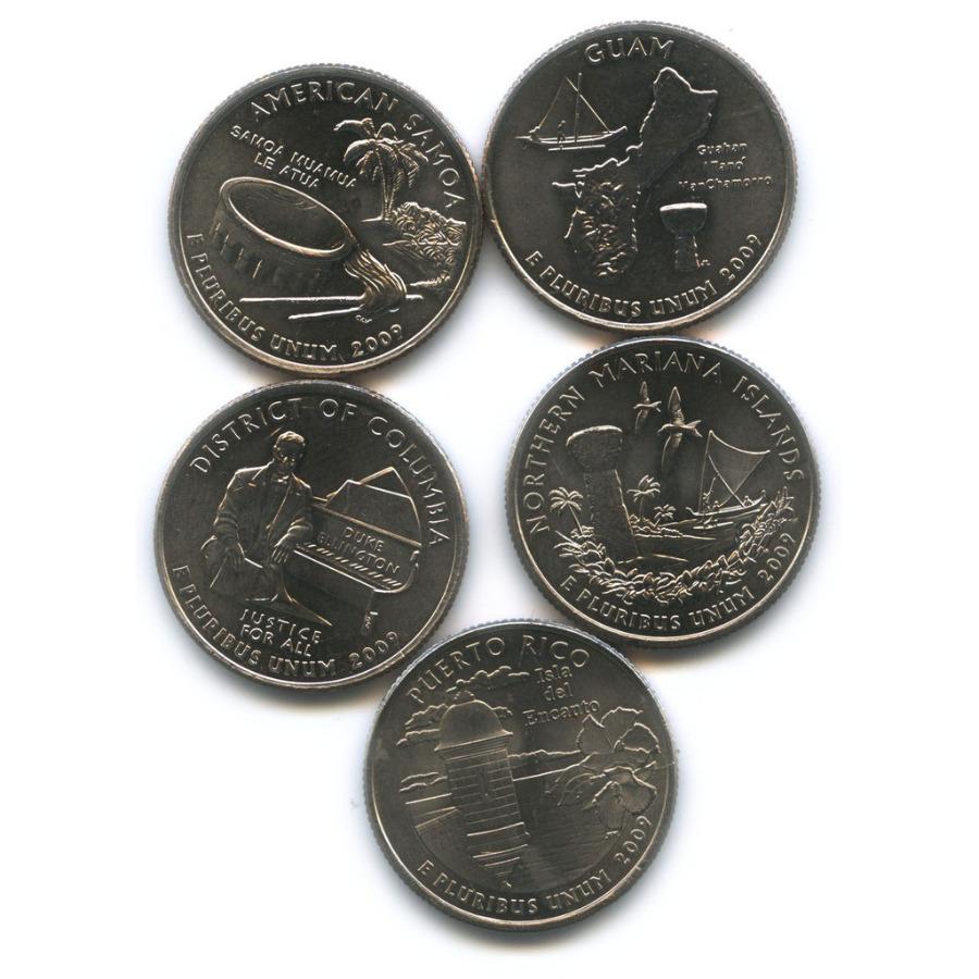 Набор юбилейных монет 25 центов (квотер) 2009 года (США)