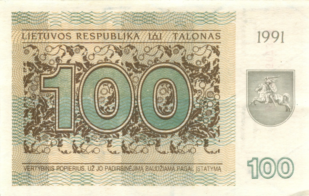 100 талонов 1991 года (Литва)