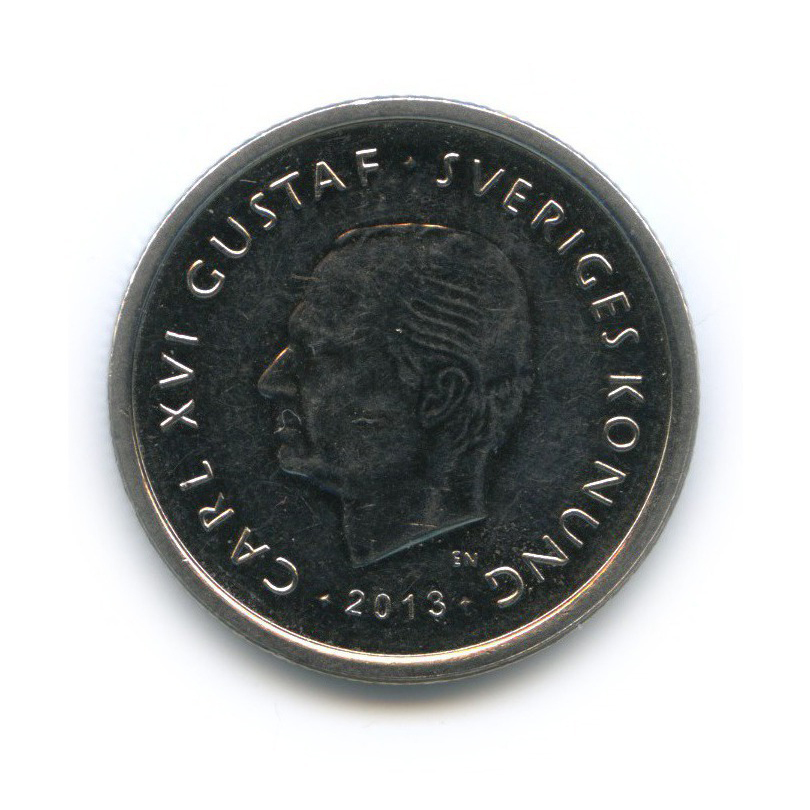 1 крона - 40 лет правления Короля Карла XVI Густава 2013 года (Швеция)