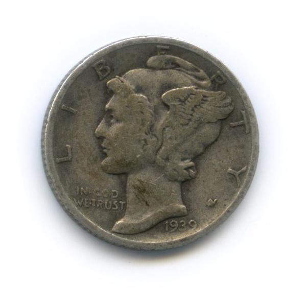 10 центов (дайм) 1939 года D (США)