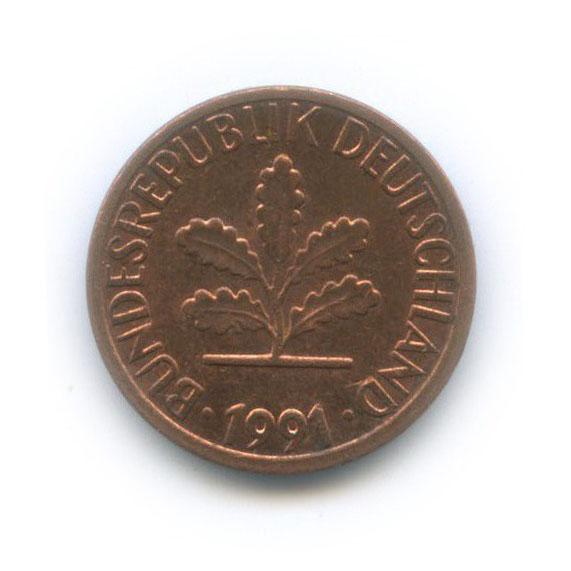 1 пфенниг 1991 года F (Германия)