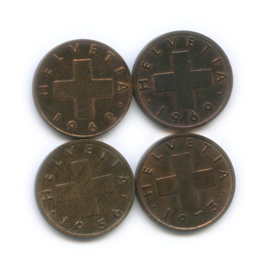 Набор монет 1 раппен (Швейцария)