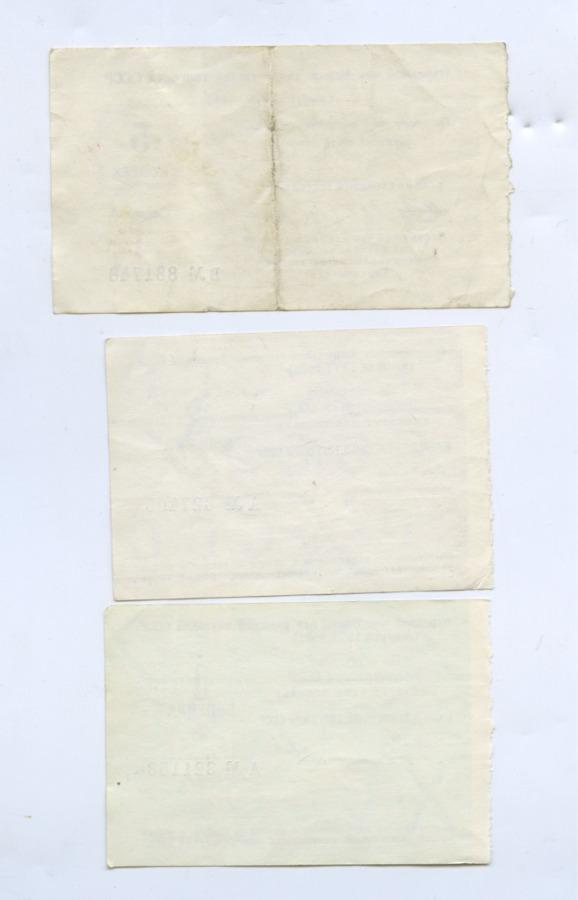 Набор отрезных чеков 1977, 1978 (СССР)