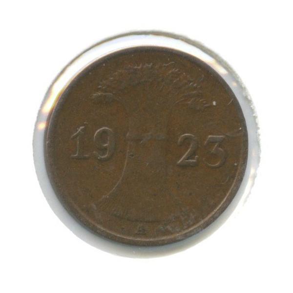 1 рентенпфенниг (в холдере) 1923 года А (Германия)
