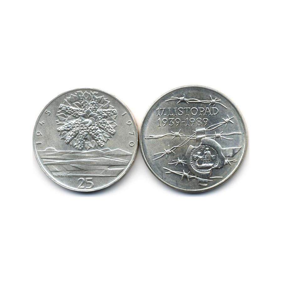 Набор юбилейных монет 1970, 1989 (Чехословакия)