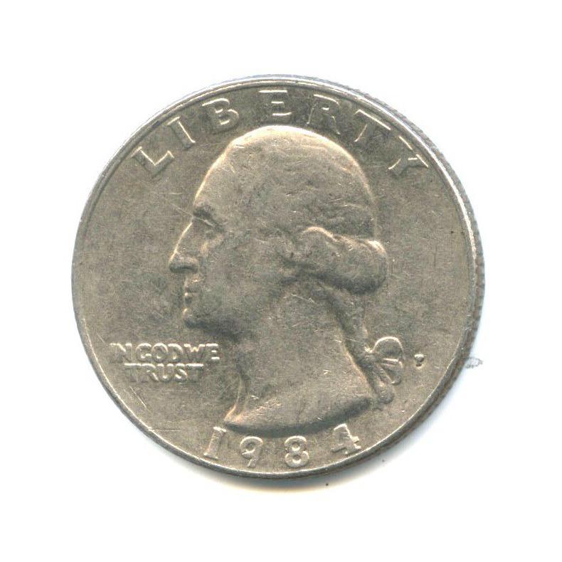 25 центов (квотер) 1984 года P (США)