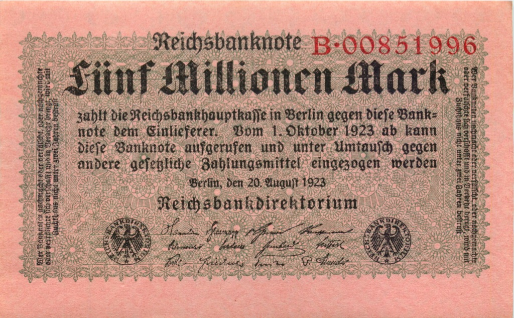 5 миллионов марок 1923 года (Германия)