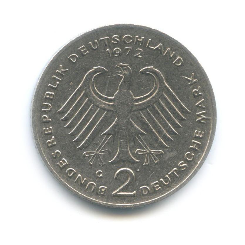2 марки — Теодор Хойс, 20 лет Федеративной Республике (1949-1969) 1972 года G (Германия)