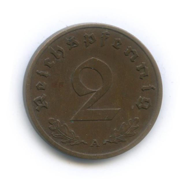 2 рейхспфеннига 1939 года A (Германия (Третий рейх))