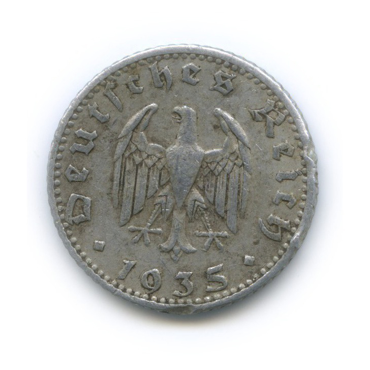 50 рейхспфеннигов 1935 года J (Германия (Третий рейх))