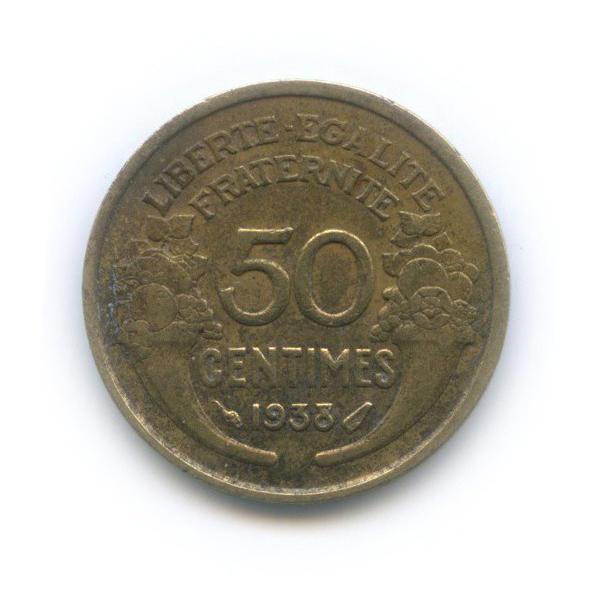 50 сантимов 1938 года (Франция)