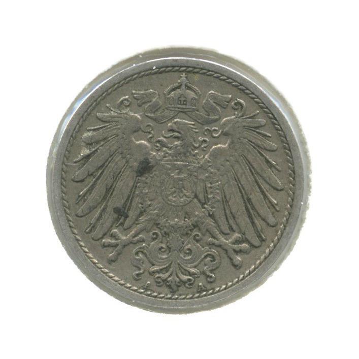 10 пфеннигов (вхолдере) 1908 года А (Германия)