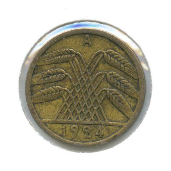 5 рейхспфеннигов (в холдере) 1924 года A (Германия)