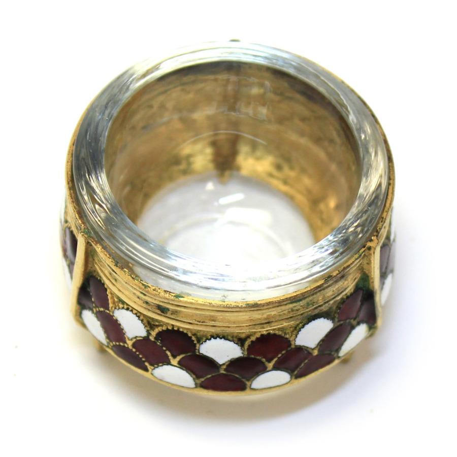 Солонка (эмаль, золочение, клеймо, 3,3×4,5 см) (СССР)