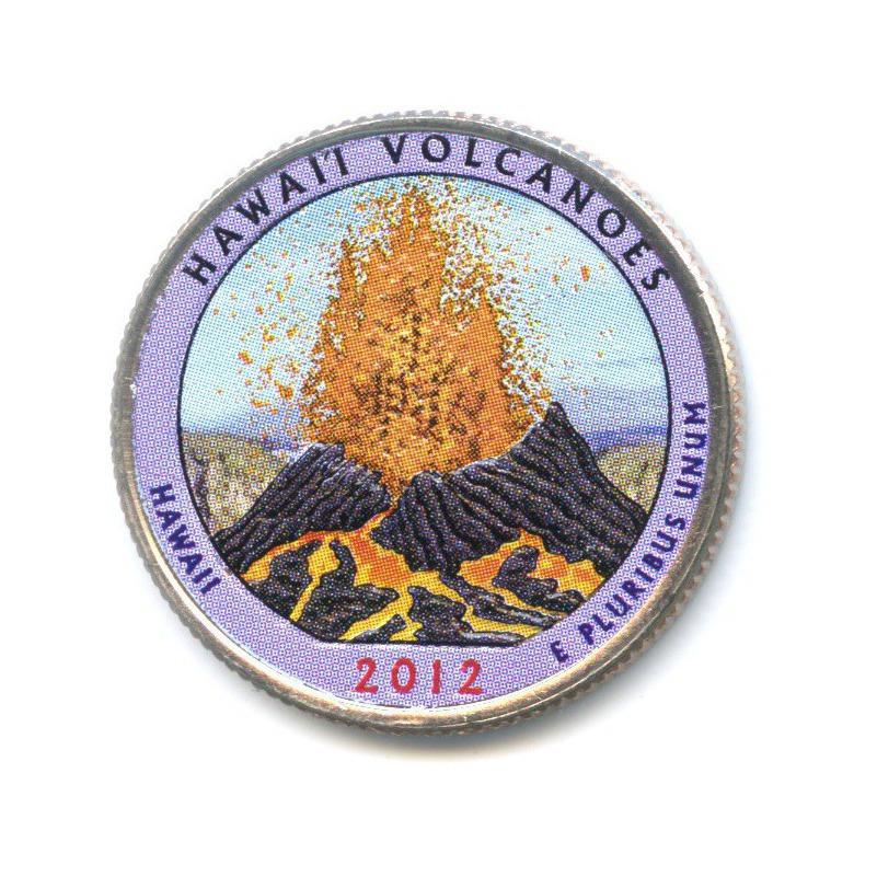 25 центов (квотер) — Национальный парк Гавайские вулканы, вцвете 2012 года D (США)