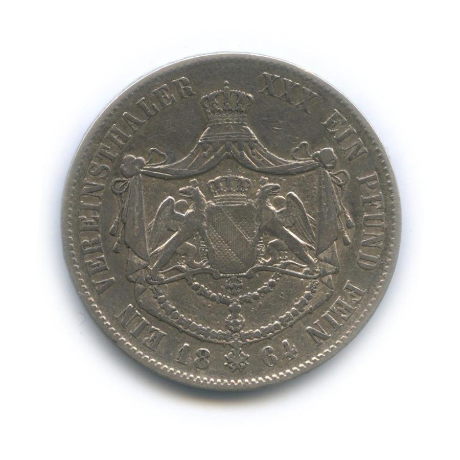 1 талер - Фридрих I, Баден 1864 года