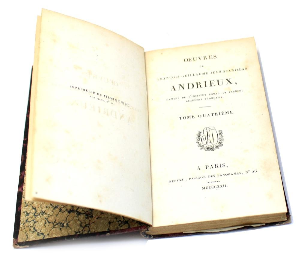 Книга «Oeuvres deFrancois Guillaume Jean Stanislas», Париж, 308 стр 1822 года (Франция)