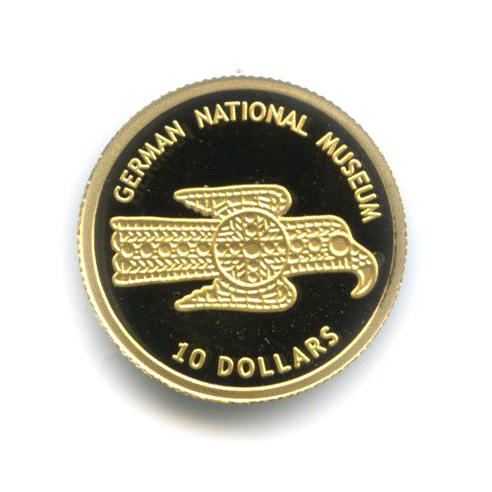 10 долларов - Национальный музей Германии, Науру 2005 года