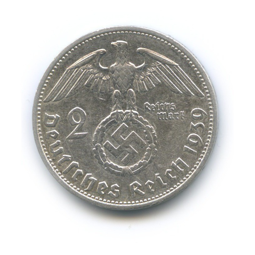 2 рейхсмарки 1939 года F (Германия (Третий рейх))