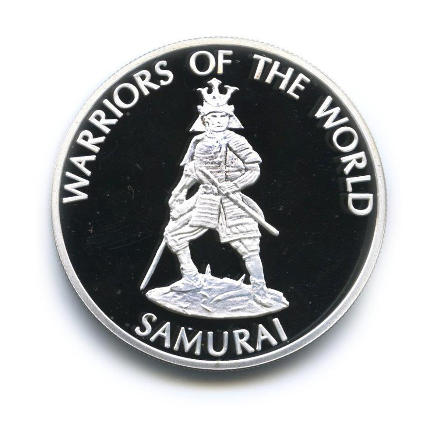 10 франков - Воины мира - Самурай, Конго (серебрение) 2010 года
