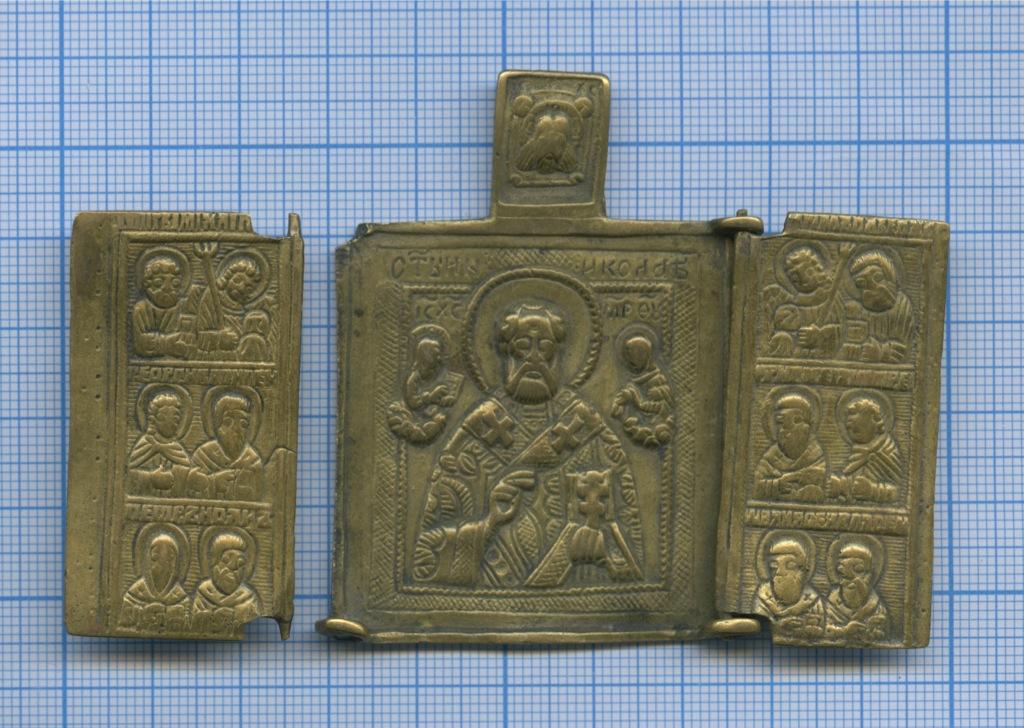 Иконка-складень «Святитель Николай Чудотворец. Избранные святые»