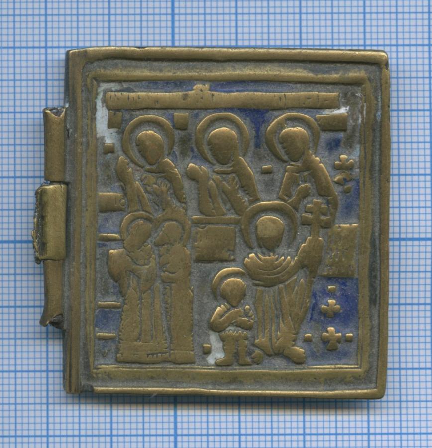 Створка складня «Семь святых» (эмаль, литье)