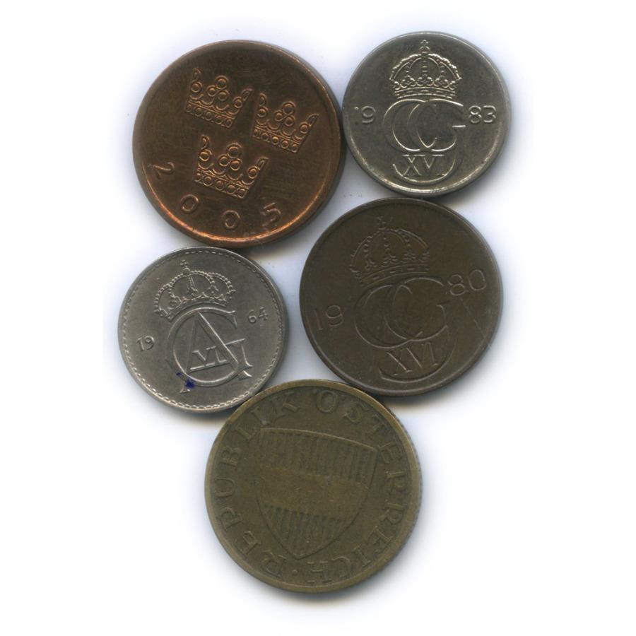 Набор монет (Австрия, Швеция)