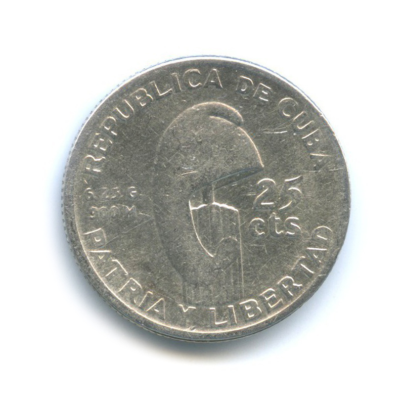 25 сентаво - 100 лет со дня рождения Хосе Хулиана Марти-и-Переса 1953 года (Куба)