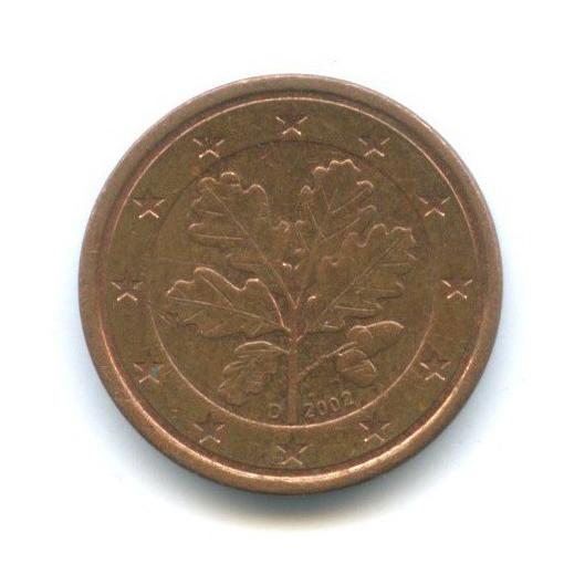 1 цент 2002 года D (Германия)