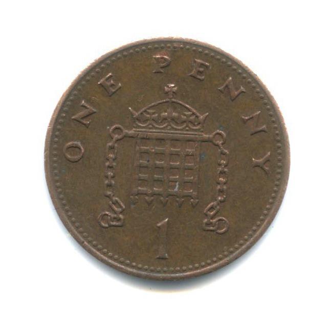 1 пенни 1987 года (Великобритания)