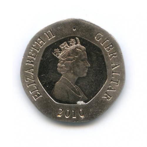 20 пенсов, Гибралтар 2010 года