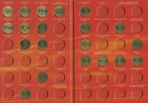 Набор монет 10 рублей - Города воинской славы идругие 10-рублевые памятные монеты (вальбоме) 2011-2015 (Россия)