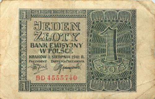 1 злотый 1941 года (Польша)