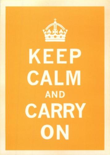 Открытое письмо «Keep calm and carry on»