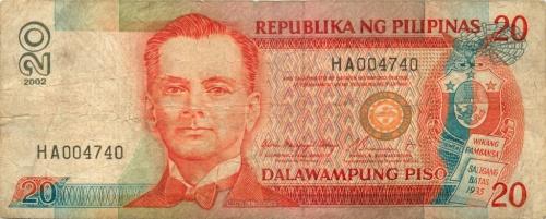 20 песо 2002 года (Филиппины)