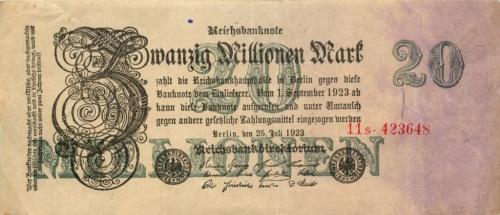 20 миллионов марок 1923 года (Германия)