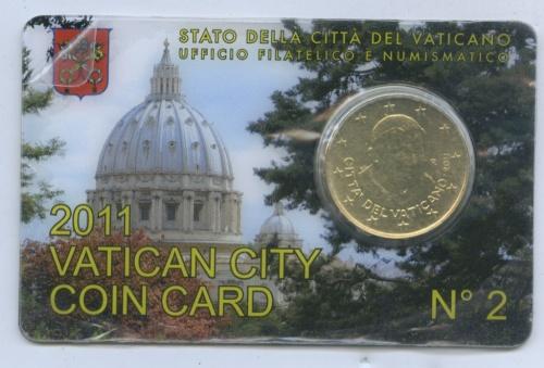 50 центов (воткрытке) 2011 года (Ватикан)