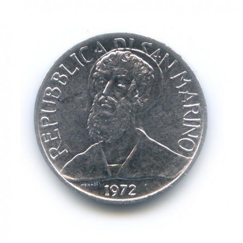 5 лир - Святой 1972 года (Сан-Марино)
